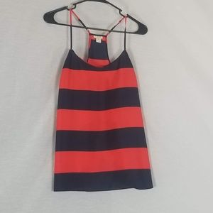 J. Crew Tops - J Crew Rugby Style Red & Navy Block Stripe Tank 4